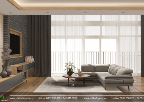 Thiết kế căn hộ anh Chung tại dự án Mardarin Garden Cầu Giấy, Hà Nội