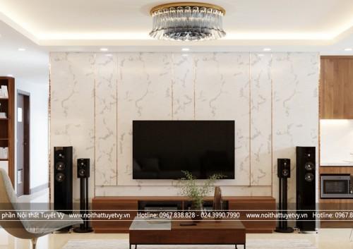 Tận dụng vẻ đẹp của gỗ tự nhiên trong thiết kế nội thất chung cư cao cấp - khẳng định vị thế của gia chủ