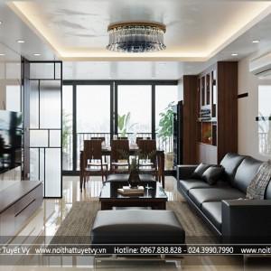 Thiết kế nội thất căn hộ anh Hùng tại Nguyễn Trãi, Hà Nội