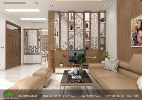 Thiết kế nội thất tổng thể biệt thự Linh Đàm