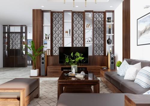 Thiết kế và thi công biệt thự chị Nương - Bán đảo Linh Đàm