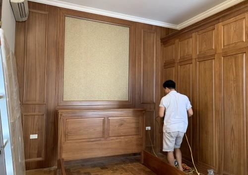 Thiết kế thi công công trình gỗ gõ đỏ nhà khách hàng cô Vân Anh ( Trần Duy Hưng )