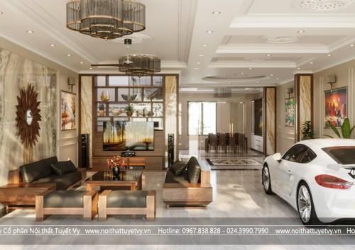 Thiết kế nội thất căn biệt thự hào nhoáng tại Bắc Ninh