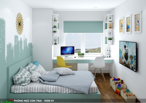 Thiết kế nội thất căn hộ gia đình anh Vinh - Nguyễn Chánh