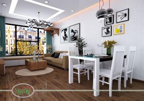 Thiết kế nội thất chung cư nhà chị Hoa - Greenstar