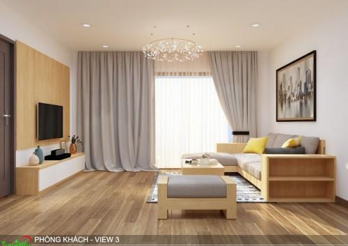 Thiết kế nội thất chung cư Eco Green - Căn 2 phòng ngủ
