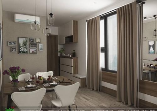 Nội thất phòng khách, phòng ngủ chung cư Eco Lake
