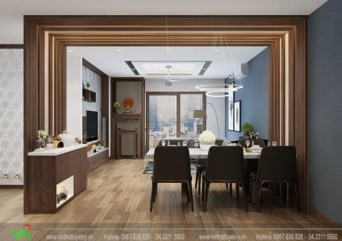 Thiết kế nội thất căn 3 phòng ngủ chung cư Goldsilk Complex - Anh Thanh