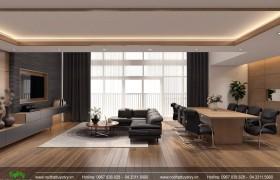 Nội thất phòng khách, bếp chung cư Mandarin - P12 - B3