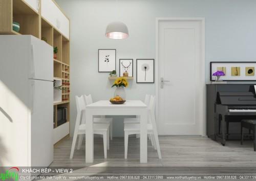 Thiết kế nội thất căn hộ 10 chung cư Five Star Kim Giang