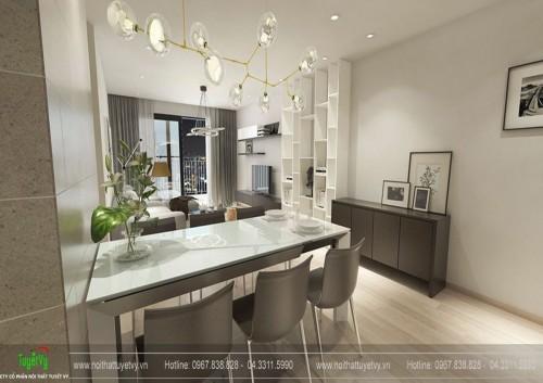 Thiết kế nội thất căn hộ 11 chung cư Five Star Kim Giang