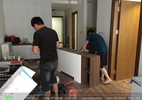Thi công nội thất căn hộ chung cư Goldmark City P2203-64m2