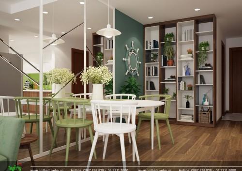 Thiết kế nội thất chung cư Goldmark City - Chị Thúy