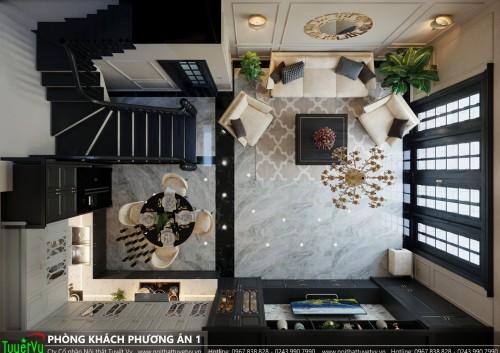 Thiết kế công trình nhà phố khách hàng chị Yến ( Trần Duy Hưng )