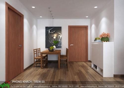 Thiết kế nội thất chung cư Time City phong cách hiện đại