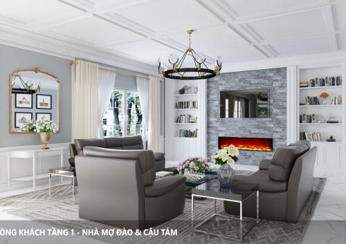 Thiết kế nội thất Mix giữa một số phong cách khác nhau dưới sự bố trí của KTS
