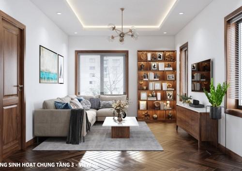 Thiết kế nội thất phòng ngủ và phòng sinh hoạt chung – dự án ông Thiêm