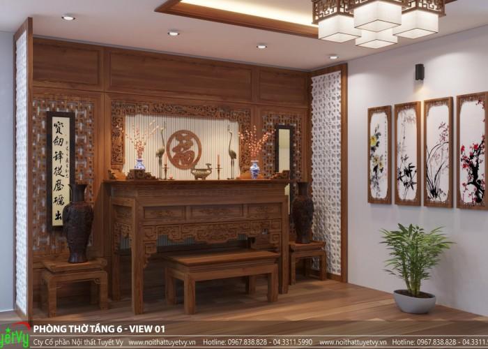 Phòng thờ nhà khách hàng chú Hóa ( Tp. Thanh Hóa )
