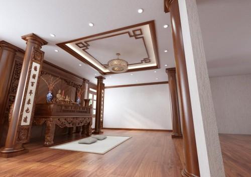 Thiêt kế nội thất phòng thờ phong cách tân cổ điển công trình khách hàng  anh Sang ( Bắc Ninh )