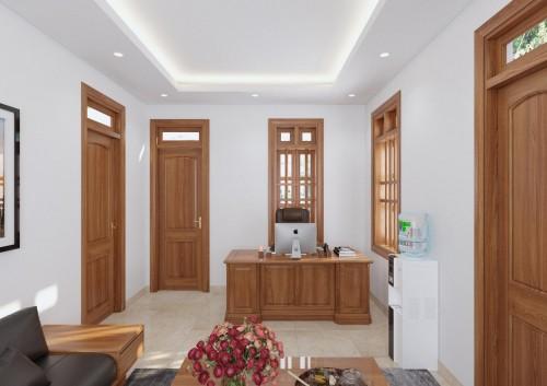 Phòng làm việc gỗ tự nhiên cao cấp
