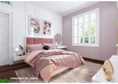 Thiết kế phòng ngủ con gái cô Vân Anh ( Trần Duy Hưng )