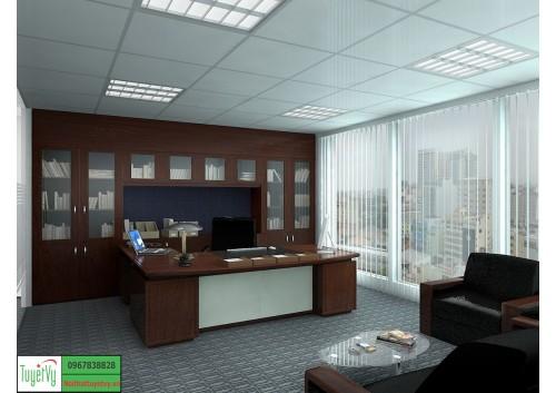 Nội thất phòng giám đốc mang phong cách đơn giản PGD03