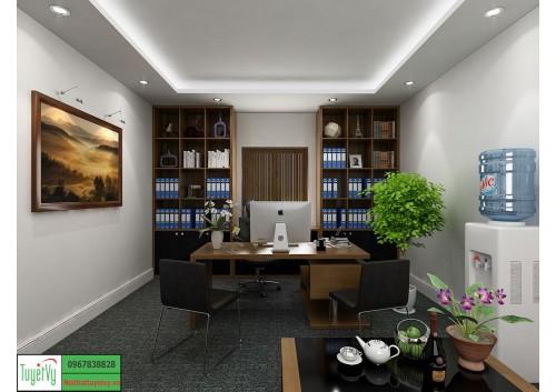 Không gian xanh trong phòng làm việc giám đốc diện tích nhỏ PGD04