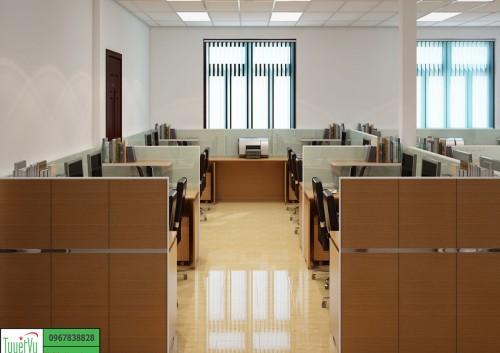 Nội thất phòng nhân viên gỗ công nghiệp PNV04