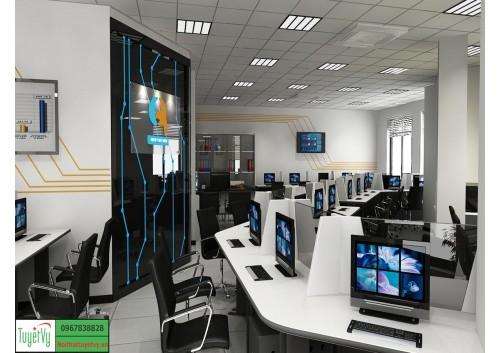 Phòng nhân viên hiện đại tông màu Đen - Trắng PNV03