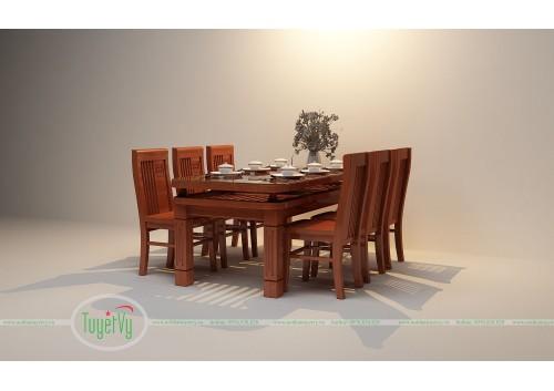 Bàn ăn gỗ Sồi giá rẻ -BA01