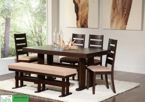Bàn ghế gỗ phòng bếp BA15