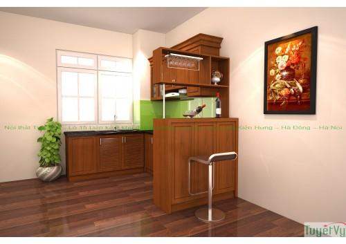 Quầy bar mini gỗ công nghiệp - QB02