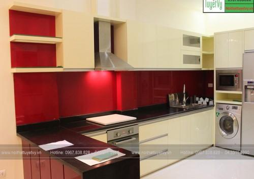 Tủ bếp Acrylic TB17