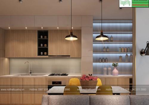 Tủ bếp gia đình TB16