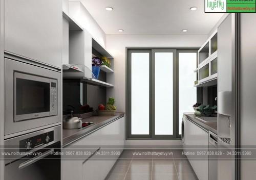 Tủ bếp gỗ đẹp 2107 TB18