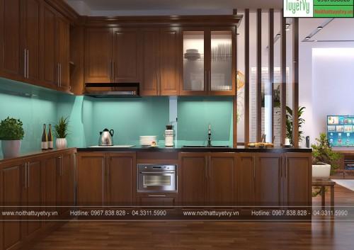 Tủ bếp gỗ Xoan Đào TB19