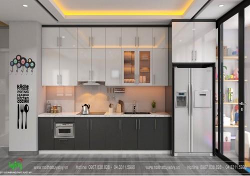 Tủ bếp Arilux An Cường - TB24