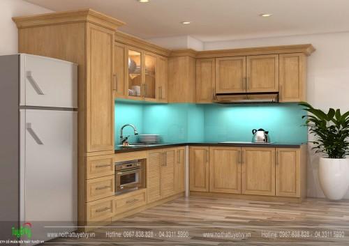 Tủ bếp gỗ tần bì TB23