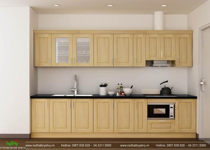 Tủ bếp chữ I gỗ Sồi - TB27