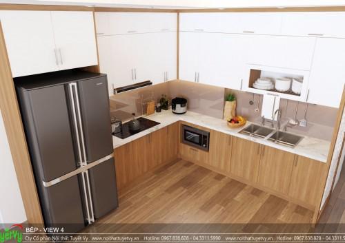 Tủ bếp đẹp gỗ công nghiệp - TB31