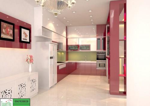 Tủ bếp Acrylic giá rẻ TB13