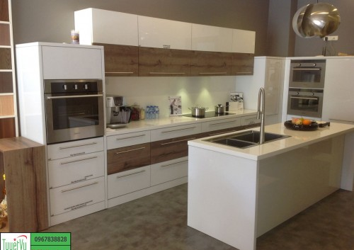 Tủ bếp Laminate giá rẻ TB14