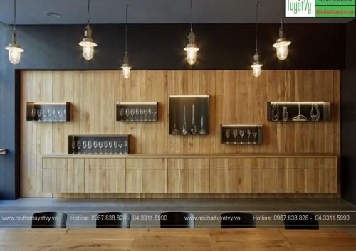 Tủ rượu gỗ Sồi TR17
