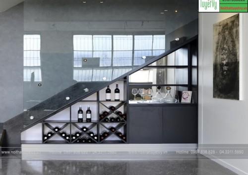 Tủ rượu gầm cầu thang TR09
