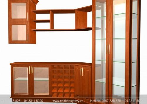 Tủ rượu gỗ Sồi TR02