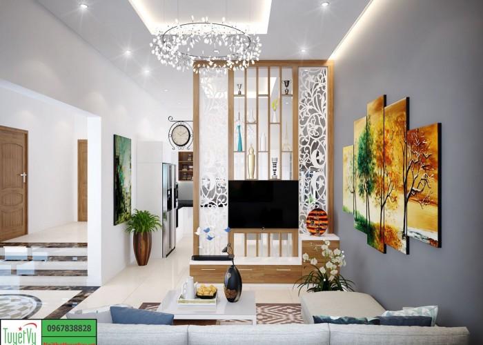 Vách ngăn CNC đẹp cho phòng khách - VN02