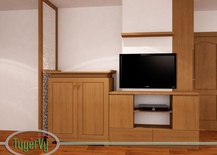 Kệ tivi gỗ sồi KTV10