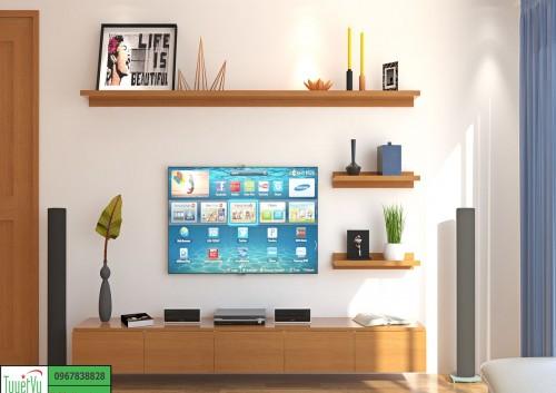 Kệ tivi gỗ tự nhiên - KTV06