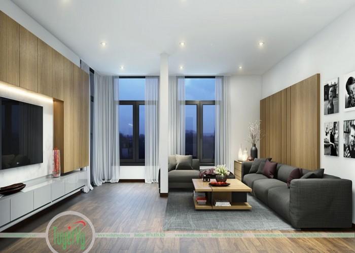 Phòng khách độc đáo với gam màu cơ bản - PK02