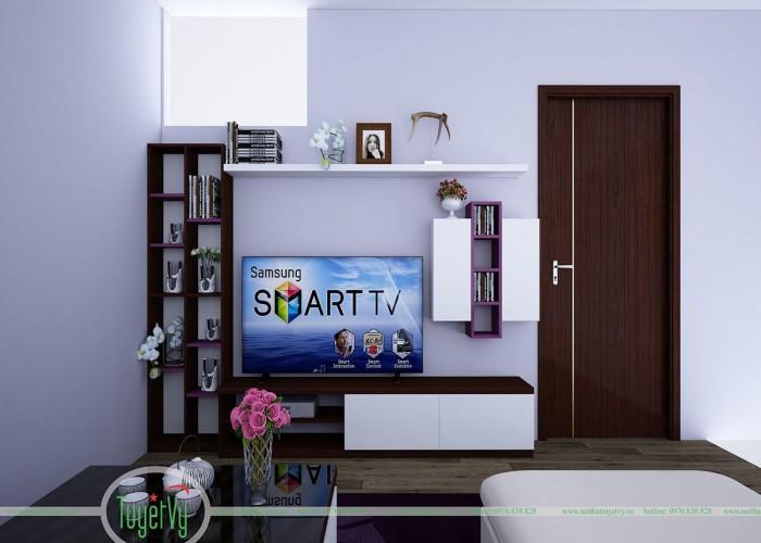 Phòng khách trẻ trung hiện đại cho mẫu nhà chung cư có diện tích nhỏ hẹp - PK1